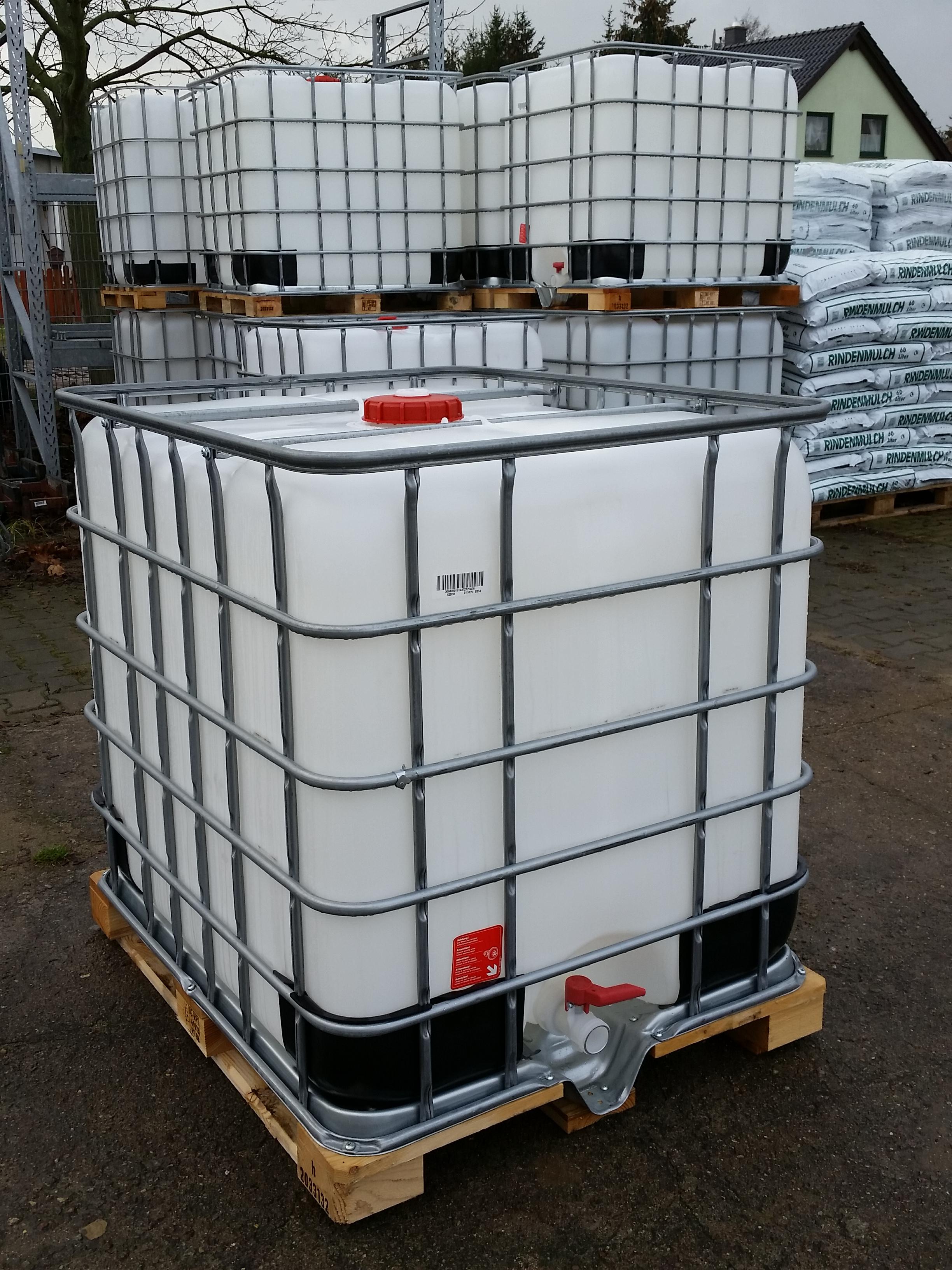 Gemeinsame Schleuderelli-Shop - I BC Tank 1000 Liter Nutzwasser Regentank &GS_76
